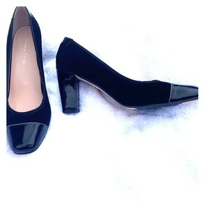 Taryn Rose Pumps Suede & Patent Leather  Sz 9